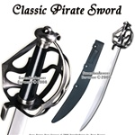 Caribbean Pirates Cutlass Sword Sabre With Basket Guard