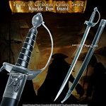 "30"" Classic Caribbean Pirate Cutlass Sword Bow Guard Cosplay Movie Replica"