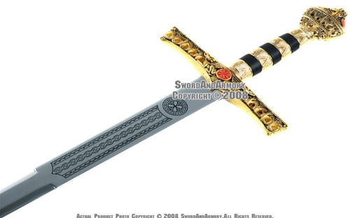 """46/"""" Richard the Lion Heart  Medieval King Knight Crusader Sword with Scabbard"""