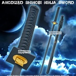 Anodized Shinobi Ninja Sword w/ Black Blade And Fitting