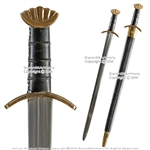 "40"" Handmade Celtic Viking Norseman Spatha Godfred Sword w/ Brass Pommel Fitting"
