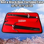 "Red & Black Dojo Carrying Case for 19"" to 21"" Sai Set Martial Arts Weapons"