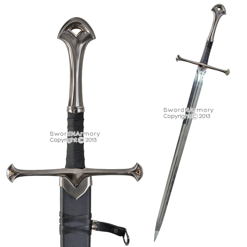 46 longtwo handed medieval knights battle long sword with scabbard larp