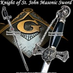 Templar Knight of St. John Crusader Mason Masonic Sword