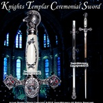 "Freemasonry Knights Templar Masonic Ceremonial Sword Silver Regalia 27"" Blade"