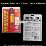 Neutralizer Pepper Spray W Pocket Clip For Self Defense