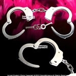 Self Defense Steel Chain Double Lock Handcuffs with Spare Key Made In Taiwan