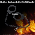 Steel Chain Double Lock Leg Cuffs Spare Keys Taiwan Made