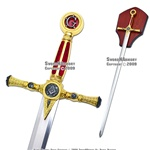 "39"" Fraternal Masonic Sword Templar Knight Freemasonry"