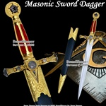 Masonic Ceremonial Dagger Templar Knight Freemasonry