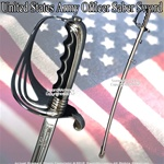 Military Ceremonial Sword U.S. Army Officer Saber New Design Acid Etching Pattern
