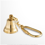Handmade Brass Miniature Maritime Ship Bell Keychain Keyring Nautical Gift