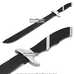Full Tang Fixed Blade Serrated Machete Ninja Sword