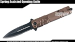 Stiletto Tactical Assisted Opening Folding Pocket Knife with Glass Breaker CP