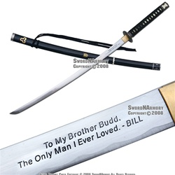 Handmade Kill Bill Budd's Samurai Katana Sword Sharp