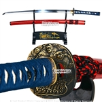 The Musashi Katana is one of the finest sub $100 katanas we have found on the market. The blade is very well balanced and features an authentic hamon. The tsuka is well shaped and features two bamboo mekugi. The blade comes very sharp and is fully capable