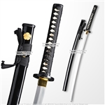 Hand Honed Black 1045 Steel Practical Sharp Katana Samurai Cutting Sword