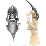 Fantasy Iron Reaver Skull Claw Finger Blade Knife Glove