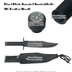 Fixed Blade Hunting Survival Knife Bowie With Leather Sheath
