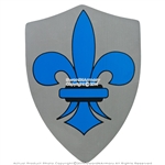 Medieval Crusader Knight Foam Shield with Fleur De Lis Coat Of Arms LARP Costume