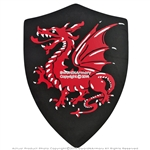 Medieval Crusader Knight Foam Shield with Torching Red Dragon Coat of Arms LARP