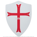 Medieval Crusader Knight Foam Shield with Red Cross Coat Of Arms LARP Costume