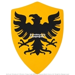 Medieval Crusader Knight German Eagle Foam Shield w/ Velcro Straps LARP Costume