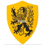 Medieval Crusader Knight Foam Shield Lion Coat Of Arms LARP Costume Velcro Strap