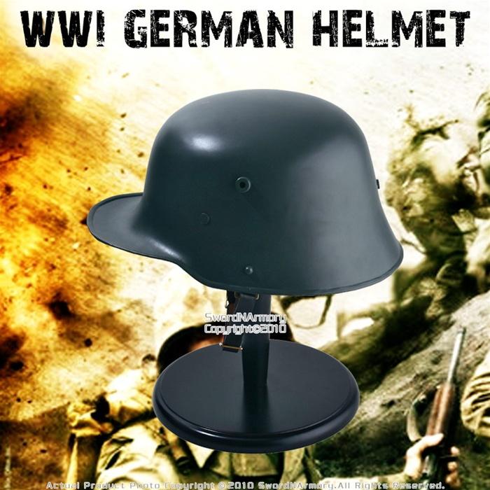 WWI German Helmet M16 18 Gauge Steel W Leather Liner