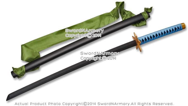 Anime Toshiro Hitsugaya Wooden Fantasy Sword Ice Ring Samurai Katana Cosplay