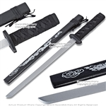 "29"" Black Wooden Samurai Katana Sword with Dragon Scabbard Cosplay Video Game"