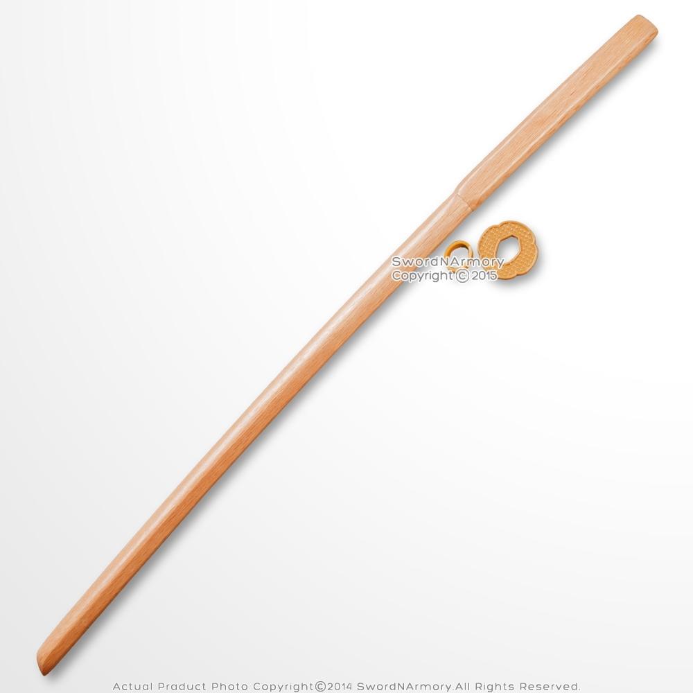 40'' Wooden Practice Sword Bokken Bokuto Samurai Katana Size Natural Wood  Color