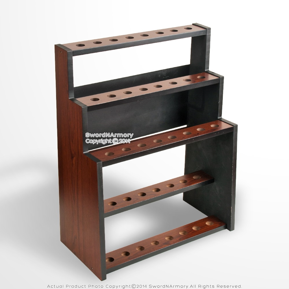 Beautiful Deluxe 3 Tiers Wooden Walking Stick Display Stand Hold 24 Canes VS58
