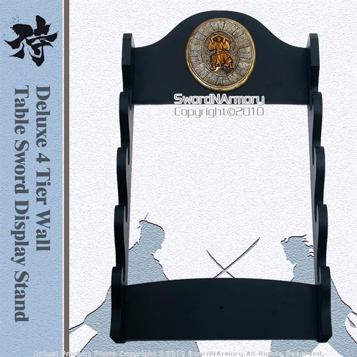 Deluxe 4 Tiers Wall Mounted Samurai Katana Sword Display Stand Brand New